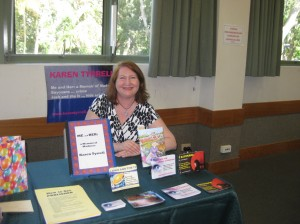 My display at Gold Coast Writers Association